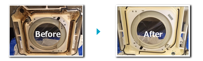 エアコン分解洗浄のBeforeAfter